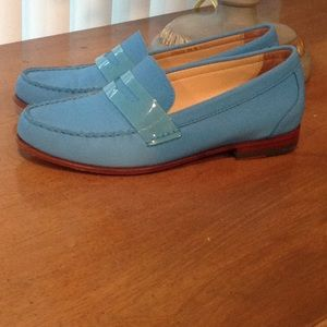 Cole Haan Blue Balance Leather/Man Made Moccasins